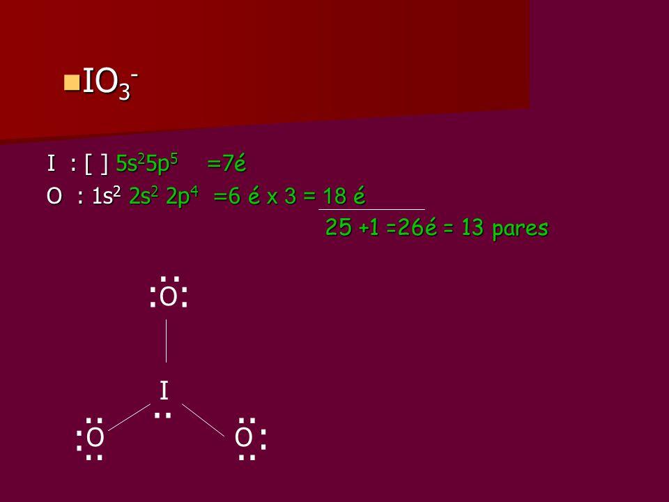 ·· : : .. .. .. : : .. .. IO3- O I O O I : [ ] 5s25p5 =7é